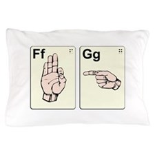 Dirty Sign Language Flash Cards Pillow Case