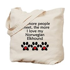 The More I Love My Norwegian Elkhound Tote Bag