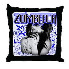 Zombitch Throw Pillow