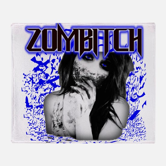 Zombitch Throw Blanket