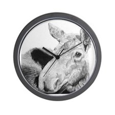 moose.jpg Wall Clock