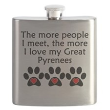 The More I Love My Great Pyrenees Flask