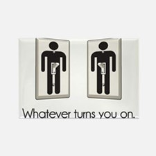 Whatever Turns You On Gay Male Light Switch Magnet