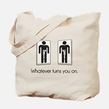 Whatever Turns You On Gay Male Light Switch Tote B