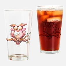 Cute Owl Drinking Glass
