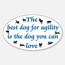 Best Dog 4 Agility Decal