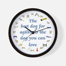 Best Dog 4 Agility Wall Clock