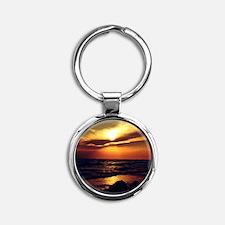 Sunset Round Keychain