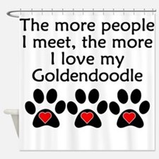 The More I Love My Goldendoodle Shower Curtain