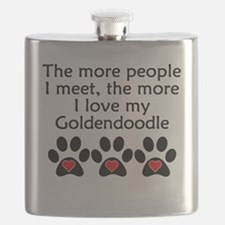 The More I Love My Goldendoodle Flask