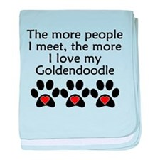 The More I Love My Goldendoodle baby blanket