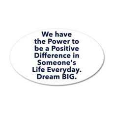 Positive Difference Wall Decal