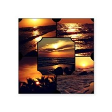 "Sunset Collage Square Sticker 3"" x 3"""