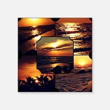 "Sunset Collage Square Sticker 3"" x 3"""