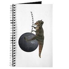 T-Rex Dinosaur Wrecking Ball Journal