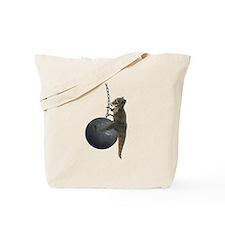 T-Rex Dinosaur Wrecking Ball Tote Bag