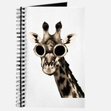 Giraffe With Steampunk Sunglasses Goggles Journal