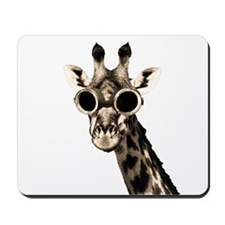 Giraffe With Steampunk Sunglasses Goggles Mousepad