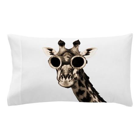 Giraffe With Steampunk Sunglasses Goggles Pillow C