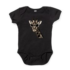 Giraffe With Steampunk Sunglasses Goggles Baby Bod