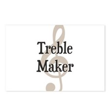 Treble Maker Clef Musical Trouble Maker Postcards