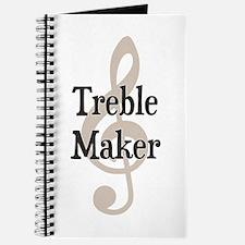 Treble Maker Clef Musical Trouble Maker Journal