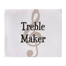 Treble Maker Clef Musical Trouble Maker Throw Blan