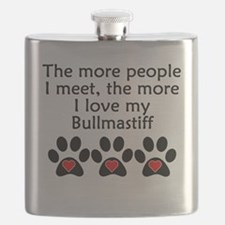 The More I Love My Bullmastiff Flask