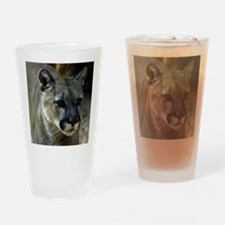 Young Cougar Drinking Glass