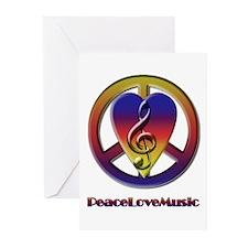 Peacelovemusic Greeting Cards (Pk of 10)