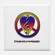 Peacelovemusic Tile Coaster