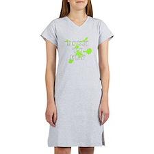 Born to Fly green cheerleader Women's Nightshirt