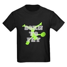 Born to Fly green cheerleader T-Shirt
