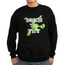 Born to Fly green cheerleader Sweatshirt