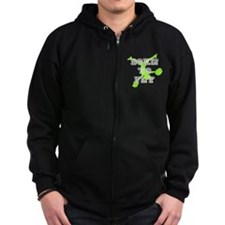 Born to Fly green cheerleader Zip Hoodie