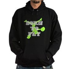 Born to Fly green cheerleader Hoodie