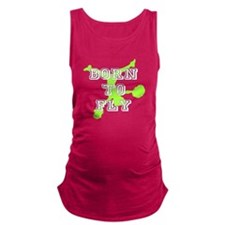 Born to Fly green cheerleader Maternity Tank Top