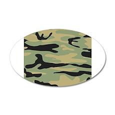 Green Army Camo Wall Sticker