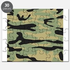 Green Army Camo Puzzle