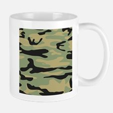 Green Army Camo Mugs