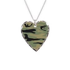 Green Army Camo Necklace