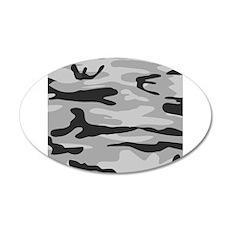 Grey Army Camo Wall Sticker
