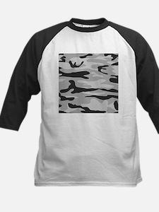 Grey Army Camo Baseball Jersey