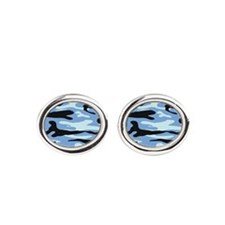Light Blue Army Camo Cufflinks