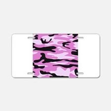 Light pink army camo Aluminum License Plate