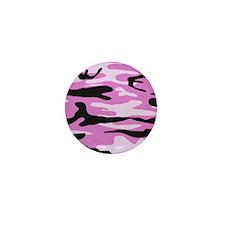 Light pink army camo Mini Button