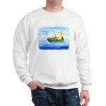 Yellow Labrador Fishing Dog Sweatshirt