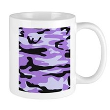Lilac Purple army camo Mugs
