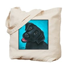 Black Lab Bunny Tote Bag
