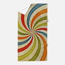 Psychedelic Retro Swirl Beach Towel